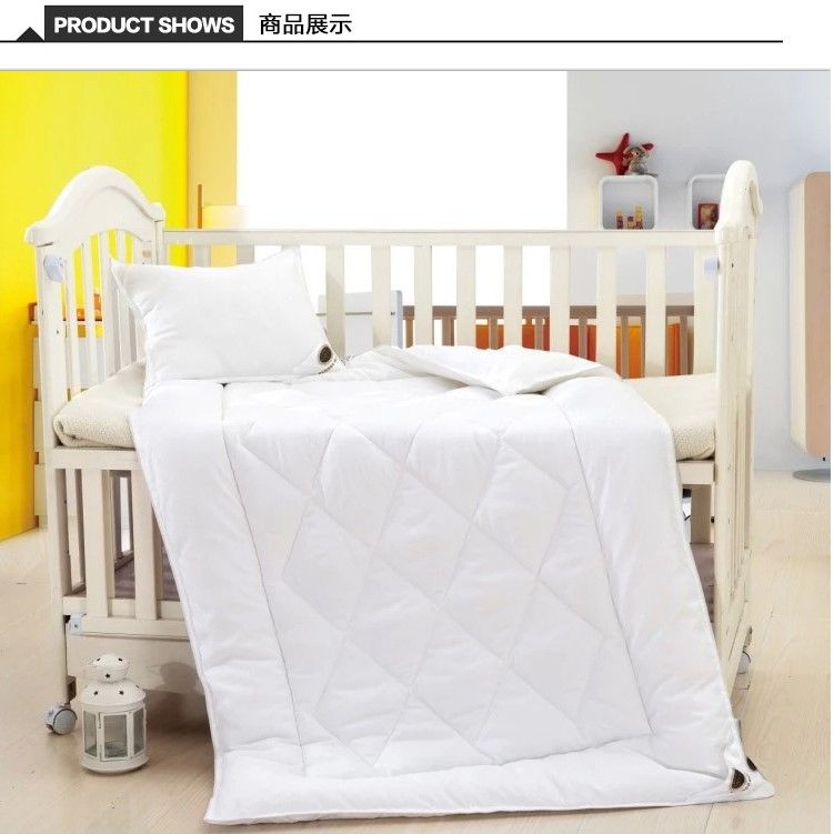Bamboo baby bedding quilt and pillow for set packing