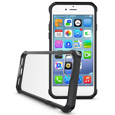 Picture of  [Black&Clear] TPU Bumper & Hard PC Crystal Clear iPhone 7 Case (4.7inch)