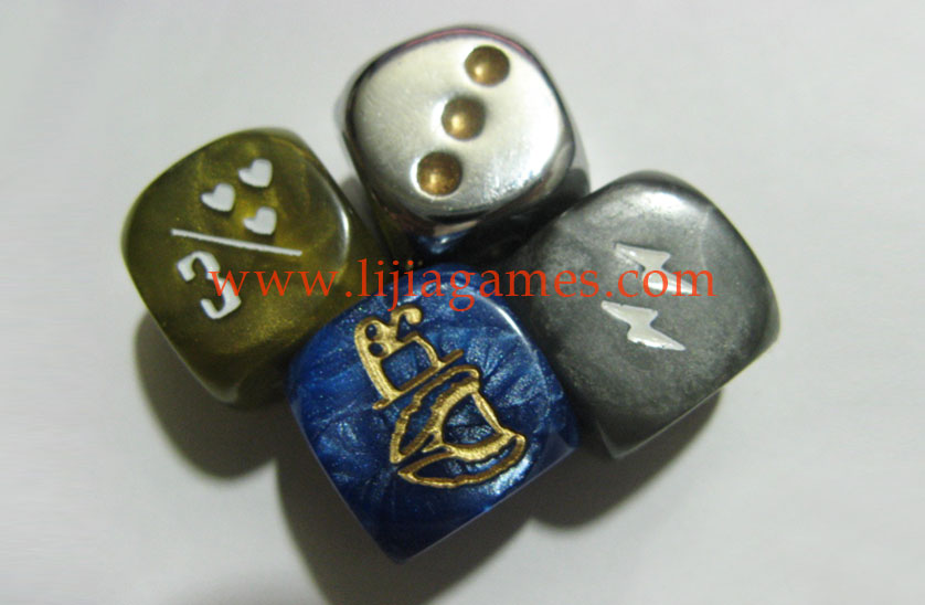 Custom granite color dice