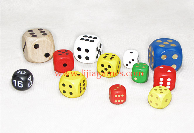 Wooden dice series